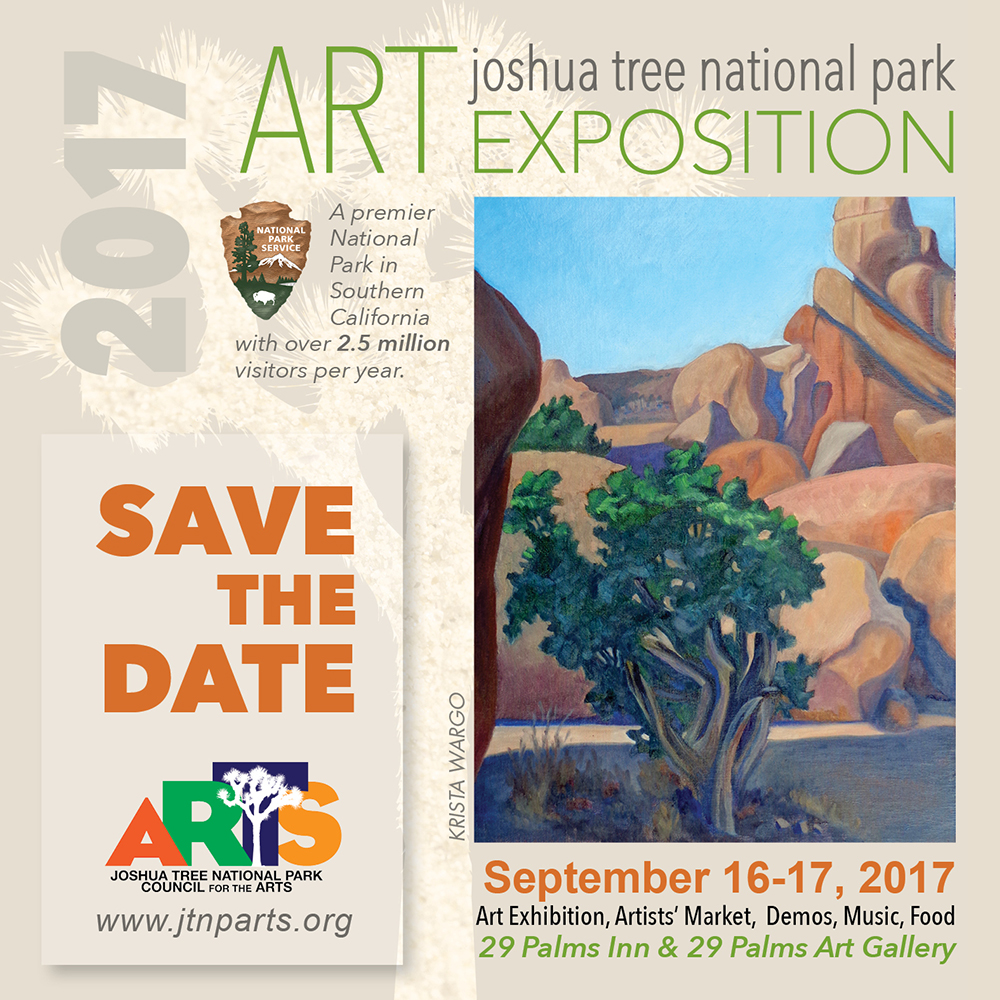 Save the Date - Joshua Tree National Park Art Expo Sept 16-17, 2017