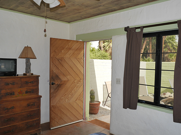 Interior leading out to sun patio Goldenbush Adobe