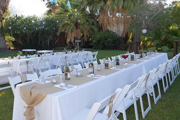 Wedding Reception on the lawn at 29 Palms Inn