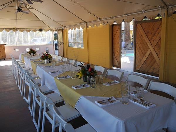 Private Catering Event in the Tent at 29 Palms Inn